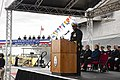Commanding officer of USS Wichita (LCS-13) speaking during commissioning ceremony US Navy 190112-N-DA434-230.jpg