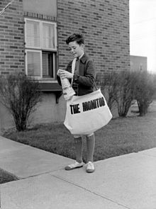 Newspaper carriers John Murray for The Monitor in 1943