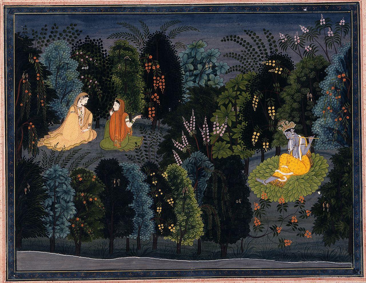 Image result for radha krishna art images
