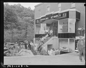 Grant Town, West Virginia - Company store in Grant Town, 1946