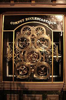 Le comput ecclésiastique de l'horloge astronomique de Strasbourg
