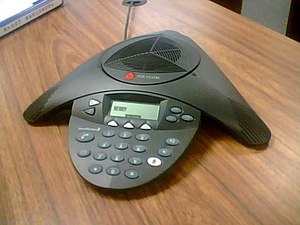Conference call - A Polycom phone made specifically for conference calls.
