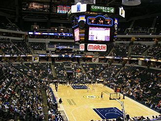 2002 FIBA World Championship - Image: Conseco fieldhouse seating bowl