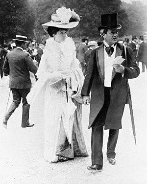 Consuelo Vanderbilt - Consuelo Vanderbilt with her father