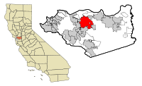 Contra Costa County California Incorporated and Unincorporated areas Concord Highlighted.svg