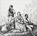 Contrebandiers dans les Pyrénées Gravure romantique du XIXe s.jpg