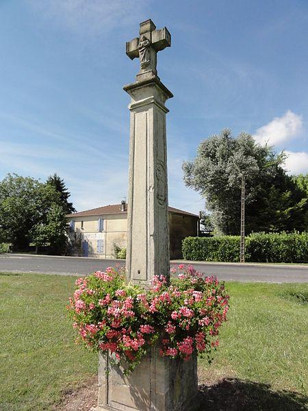 Contrisson (Meuse) croix de chemin, verso