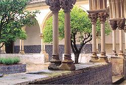 Azulejos de padr�o no Claustro do Cemit�rio no Convento de Cristo em Tomar.