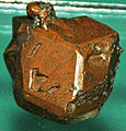 Copper crystal (Mesoproterozoic, 1.05-1.06 Ga; Calumet and Hecla Mine, Calumet, Upper Peninsula of Michigan, USA) (16687779923).jpg
