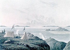 Coppermine River - View of the Arctic Sea from the mouth of the Coppermine River (1821) by George Back
