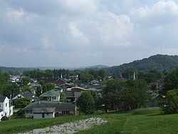 Corbin as viewed from 14th St. Hill, 2006