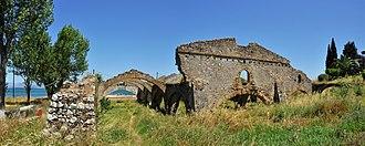Venetian arsenal, Gouvia - The rear wall of the shipyard