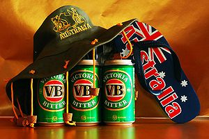 Cork hat - A cork hat, Australian beer and a thong