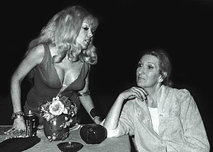 Corner Theatre ETC - Actress Sandy MacDonald (left) onstage (with unknown actress) at Corner Theatre ETC, in 1971.