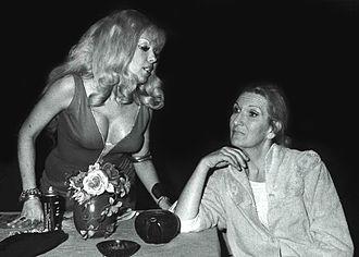 Corner Theatre ETC - Actress Sandy MacDonald (left) onstage (with unknown actress) at Corner Theatre ETC, in 1971.
