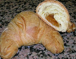 Cornetto (pastry) - A homemade cornetto