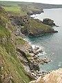 Cornish coast from above Crookmoyle Rock - geograph.org.uk - 1578216.jpg