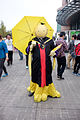 Cosplayer of Koro-sensei with Yellow Umbrella from Assassination Classroom at CWT41 20151212.jpg