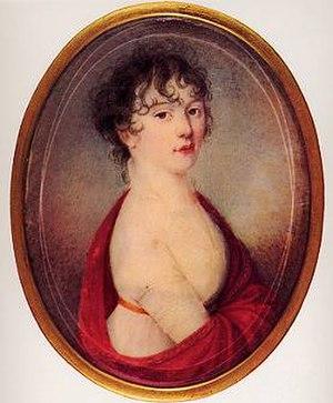 Giulietta Guicciardi - Miniature from Beethoven's belongings, possibly Julie Guicciardi