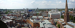 View from Coventry Cathedral Tower: West