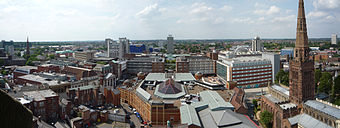 Coventry Cathedral Tower West Panorama.jpg