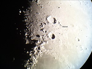 Mitchell (crater) - Location of the lunar crater Mitchell