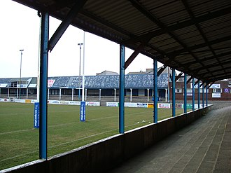 Barrow Raiders - View of Craven Park prior to removal of NE terrace roof