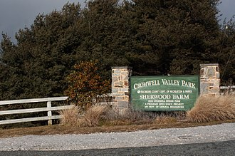 Cromwell Valley Park - Image: Cromwell Bidge Park Entrance