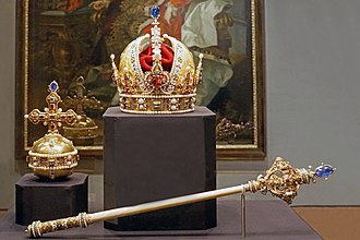 Crown jewels - Crown Jewels of Austria. Like most regalia, they include a crown, an orb and a sceptre.