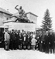 Csoportkép 1935, a Somogy megyei 44. honvéd gyalogezred emlékműve. Fortepan 22578.jpg