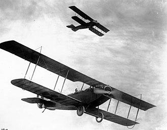 Curtiss JN-4 - Curtiss JN-4Ds at Camp Taliaferro, Texas, circa 1918