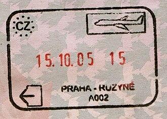 Schengen Area - Image: Czech prague airport exit