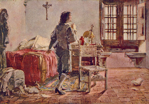 Afonso VI of Portugal - King Afonso VI imprisoned in the Palace of Sintra, by Alfredo Roque Gameiro.