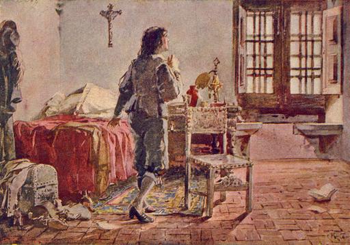 D. Afonso VI Preso em Sintra (Roque Gameiro, Quadros da História de Portugal, 1917)