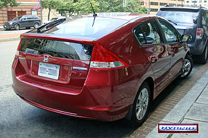 Rear view of the Honda Insight Hybrid, Virgini...