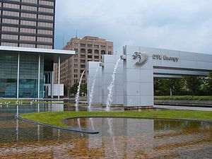 DTE Energy Headquarters - Image: DTE Headquarters Campus Urban Oasis Gardens Front