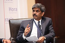 D Shivakumar, Member of the Board, Nokia, Finland, making a point on free and fair trade (8268146636).jpg