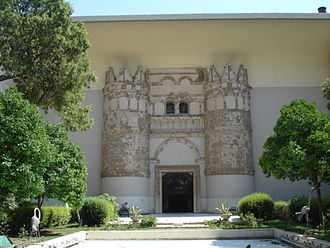 National Museum of Damascus - The façade, which was the gateway to Qasr al-Heer al-Gharbi