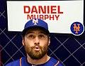 Daniel Murphy talks to reporters on -WSMediaDay (22482152158).jpg