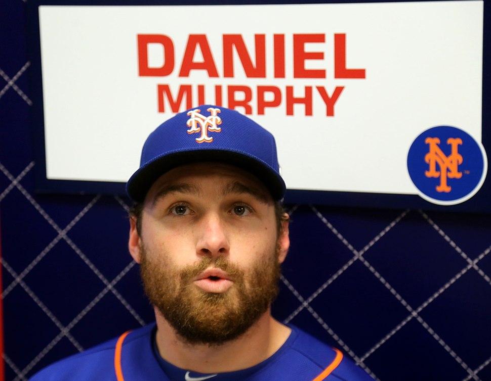 Daniel Murphy talks to reporters on -WSMediaDay (22482152158)