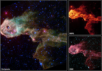 Spitzer Space Telescope - Spitzer's first light image of IC 1396.