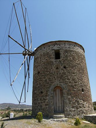 Datça Peninsula - Datça's traditional windmills are advantaged by the peninsula's strong winds