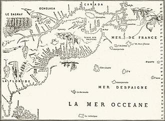 La côte est du canada au xvi e siècle