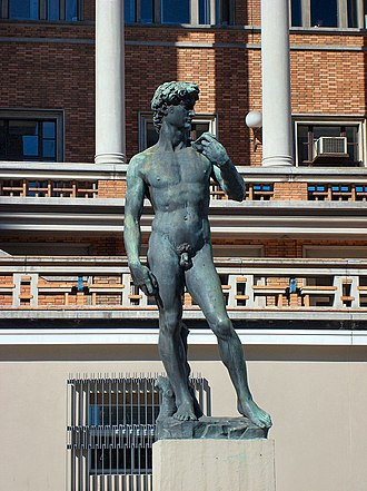 Palacio Municipal (Montevideo) - Replica of Michelangelo's David