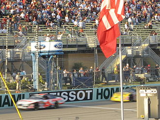 2007 NASCAR Busch Series - No. 6-David Ragan leads No. 10-Dave Blaney to the first restart of the Ford 300.