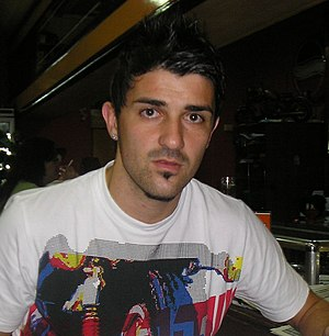 David Villa, footballplayer from Spain