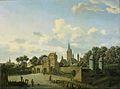 De Sankt Severin te Keulen opgenomen in een gefantaseerd stadsbeeld Rijksmuseum SK-C-143.jpeg