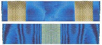 Ilie Șteflea - Image: De twee linten van de Orde van de Kroon van Roemenie