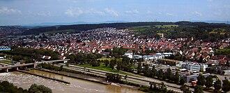 Deizisau - View of Deizisau from Altbach Power Station