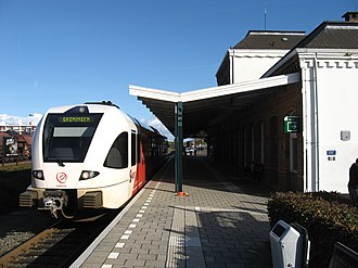 Delfzijl railway station - Arriva Spurt at the station in 2009
